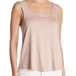 14th & Union pink square neck tank top